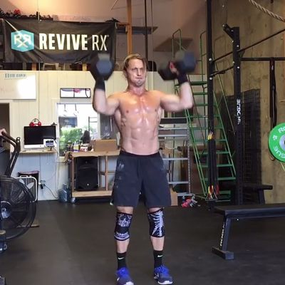 Hang Squat Clean Thrusters