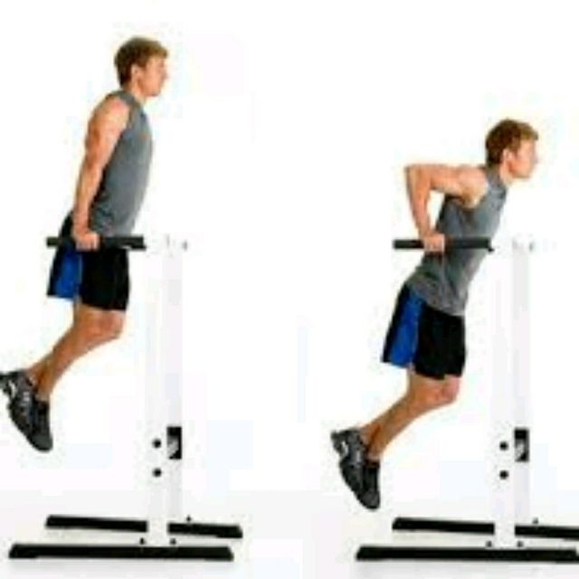 How to do: Tricep Dips Bar - Step 1