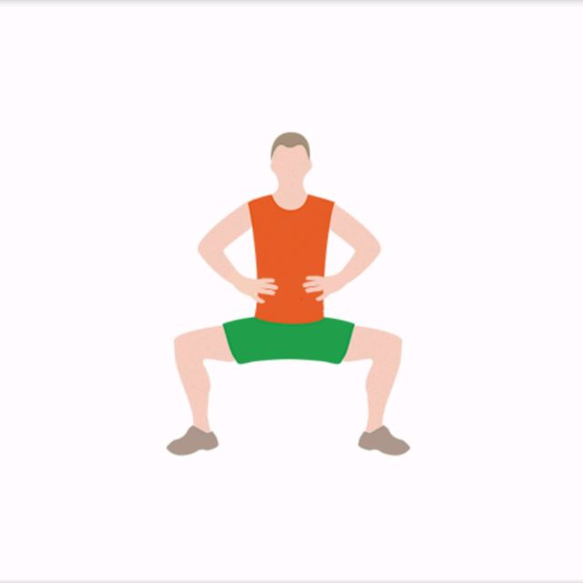 How to do: Sumo Squat Calf Raisers - Step 1
