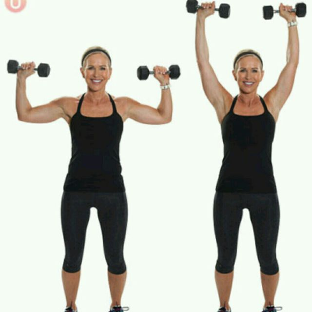 How to do: Alternating Shoulder Press - Step 1