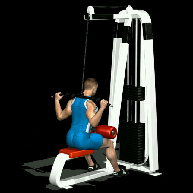 How to do: Lat machine dietro - Step 1