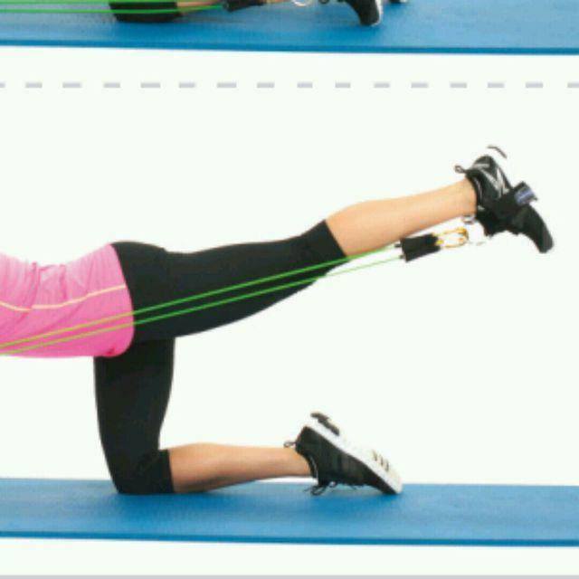 How to do: CM Plank Or Kneeling Kickbacks - Step 2