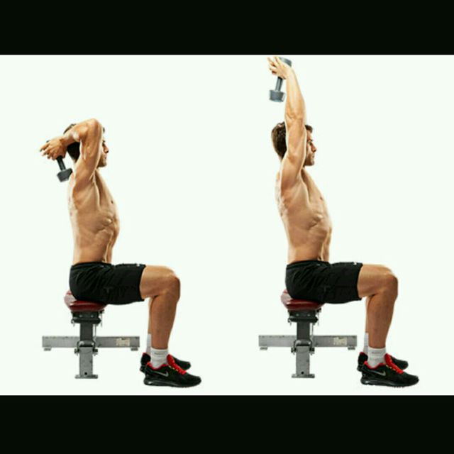How to do: Seated Tricep Extensions - Step 1