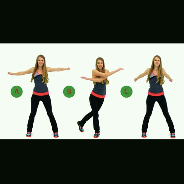 How to do: Arm Swings + Lateral Steps - Step 1