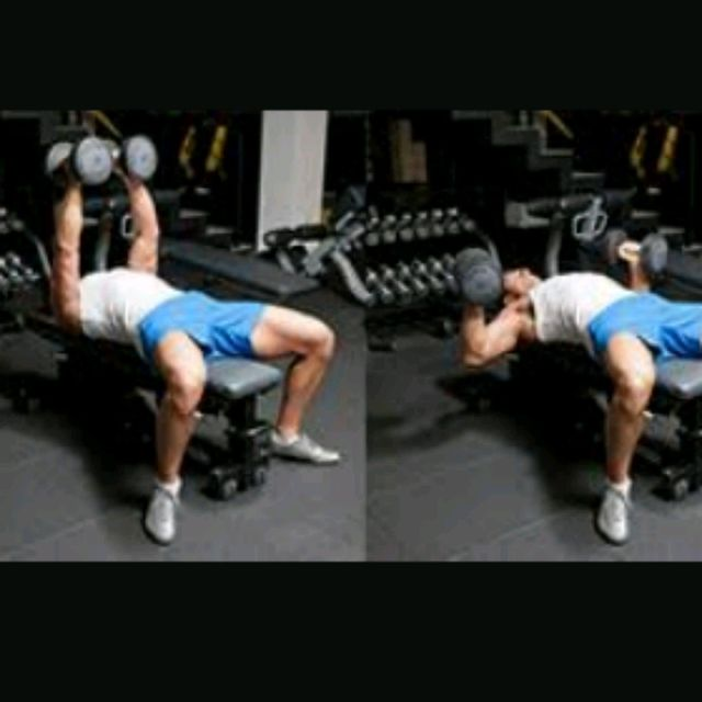 How to do: Dumbbell Flat Press 4 X 10 - Step 1