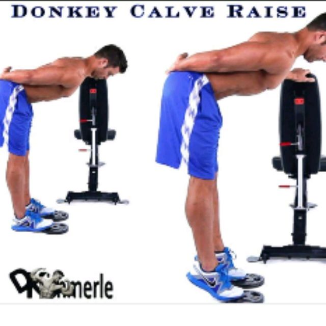 How to do: Donkey Calf Raise - Step 1