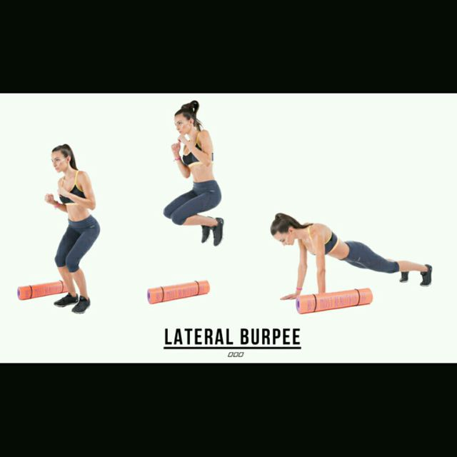 How to do: Lateral Jump Burpees - Step 1