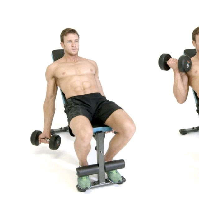 How to do: Incline Bicep Curl - Step 1