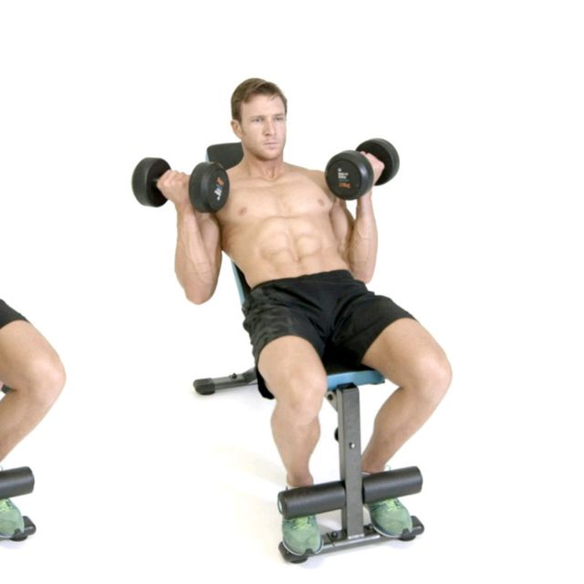 How to do: Incline Bicep Curl - Step 2