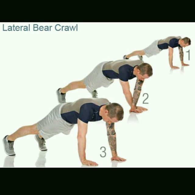 How to do: Lateral Bear Crawl - Step 1