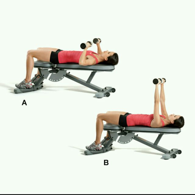 How to do: Chest Press On Bench - Step 1