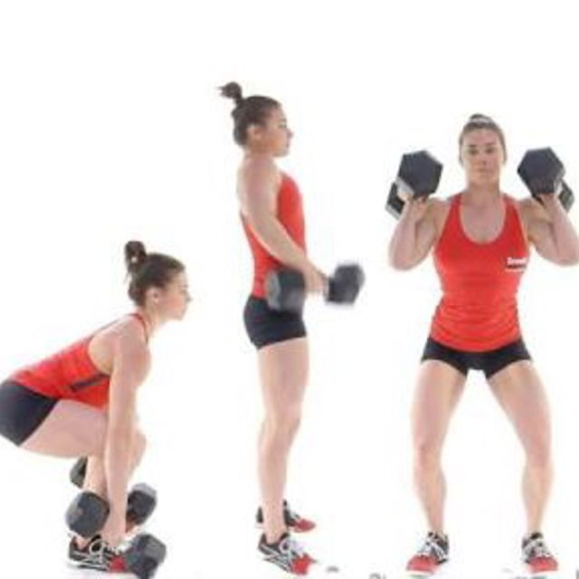 How to do: Dumbbell Power Clean - Step 3