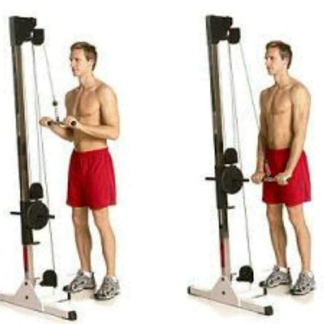 How to do: Tricep Bar Pushdown - Step 1
