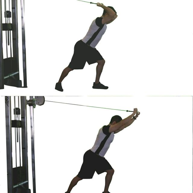 How to do: Tricep Rope Overhead Press - Step 1