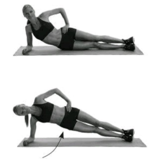 How to do: Side Plank With Hip Raises - Step 1