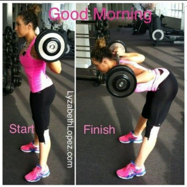 How to do: Barbell Good Mornings - Step 1