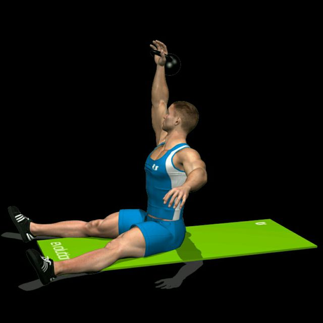 How to do: Kettlebell Sit Up - Step 2
