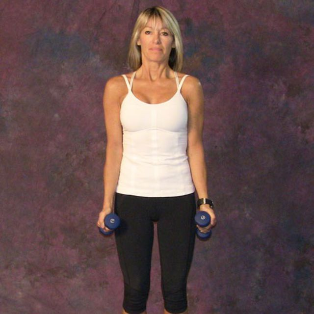 How to do: Lateral-Front Raise using Dumbbells - Step 1
