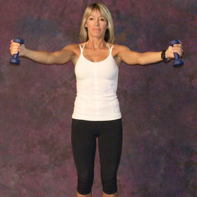 How to do: Lateral-Front Raise using Dumbbells - Step 2