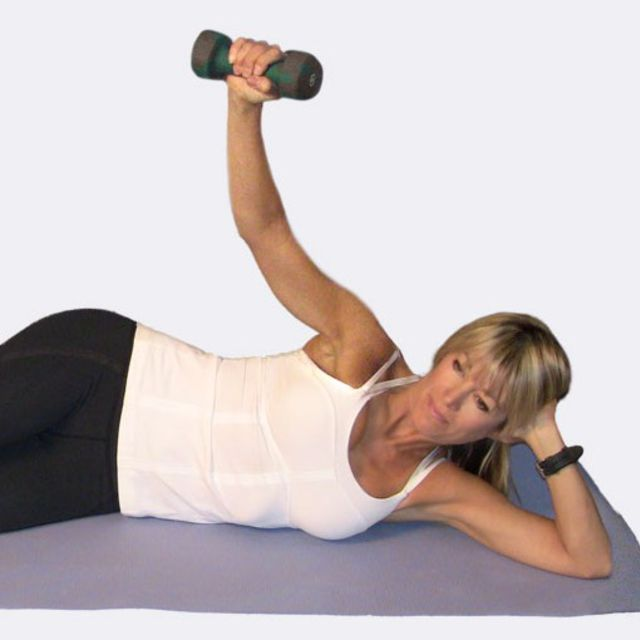 How to do: Lying Lateral Raise using Dumbbell - Step 3