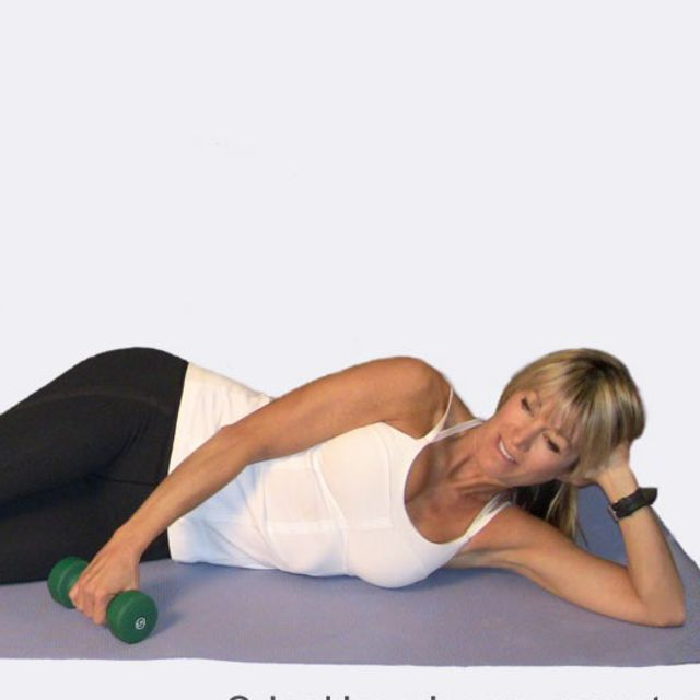 How to do: Lying Lateral Raise using Dumbbell - Step 1