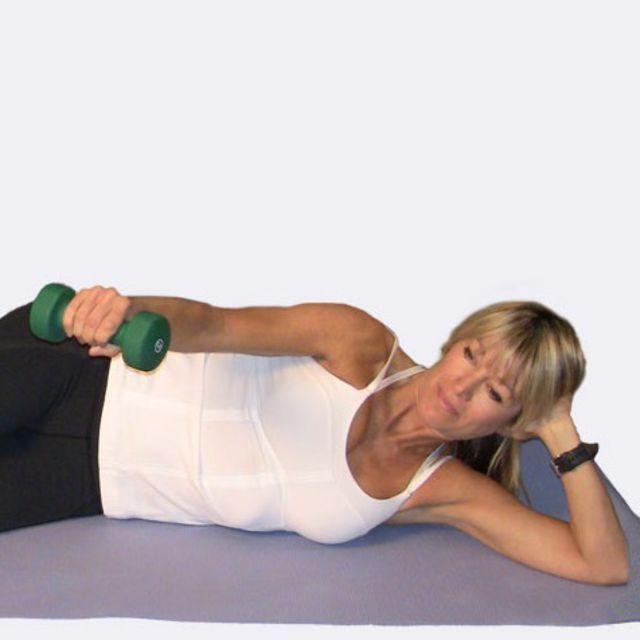 How to do: Lying Lateral Raise using Dumbbell - Step 2