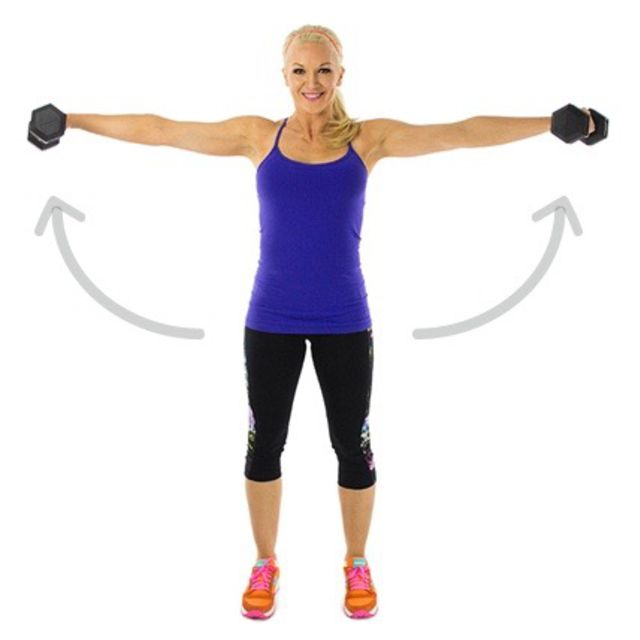 How to do: Dumbell Lateral Raise - Step 2