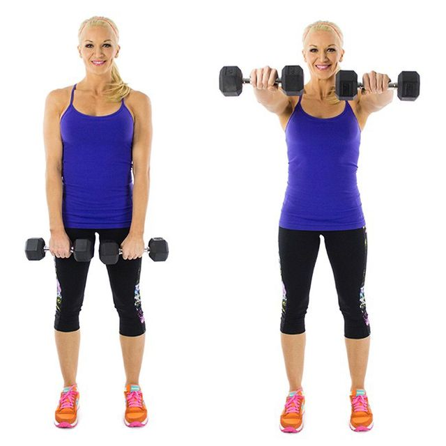 How to do: Dumbbell Front Raise - Step 3