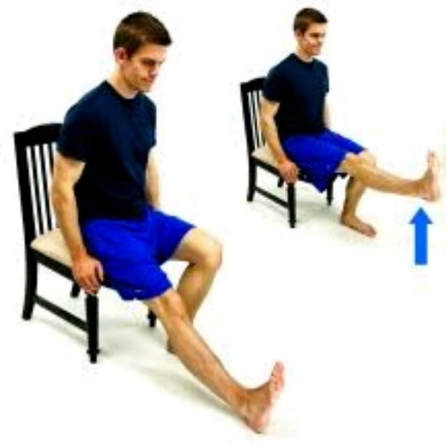 How to do: Seated Single Leg Raise - Step 1