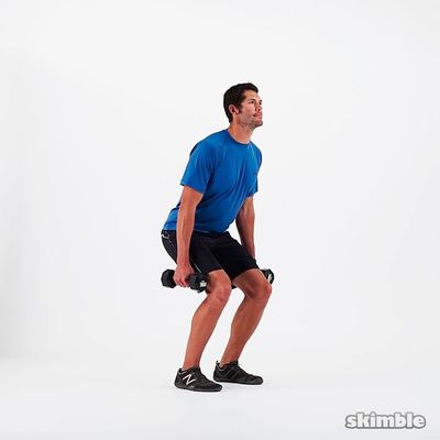 Farmer's Kettlebell Squat