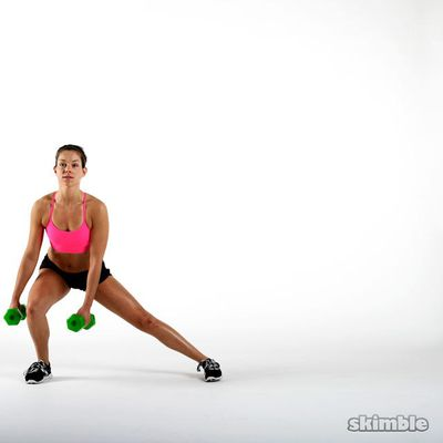 Kettlebell Side Lunge and Touch