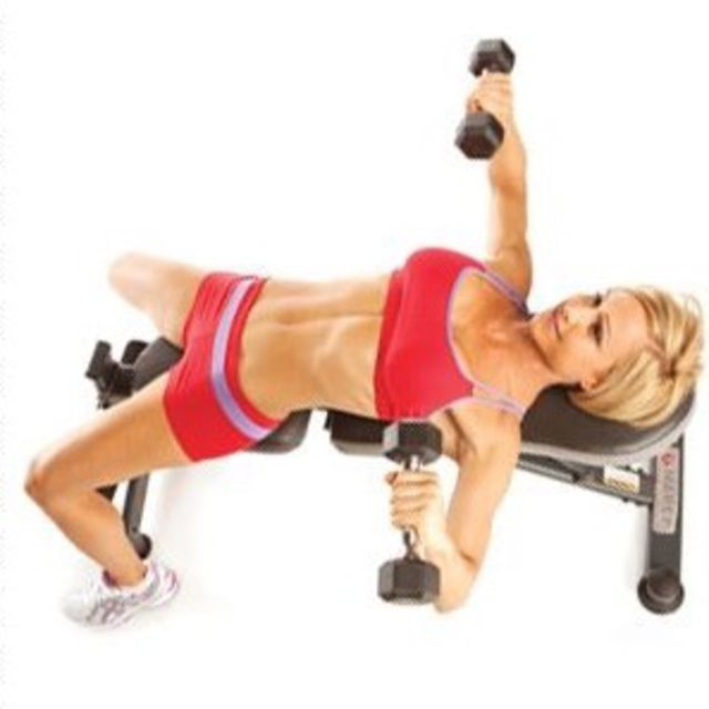 How to do: Flat Bench Dumbbell Press - Step 2