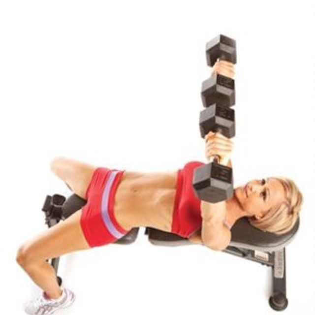 How to do: Flat Bench Dumbbell Press - Step 3