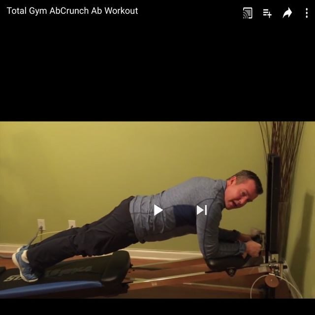 How to do: Total Gym Ab Crunches - Step 1