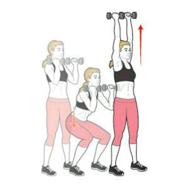 How to do: Squat And Press - Step 1