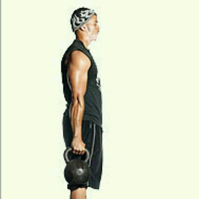 How to do: One-Arm Kettlebell Bottom Up Clean (Hang Position) - Step 1