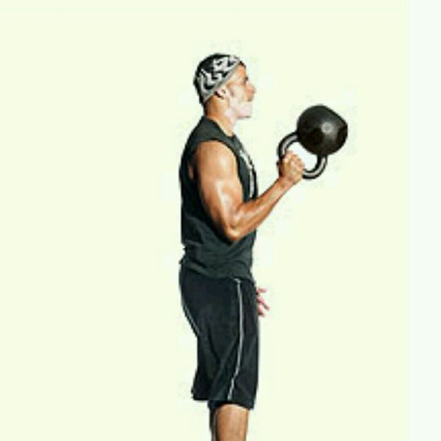 How to do: One-Arm Kettlebell Bottom Up Clean (Hang Position) - Step 2