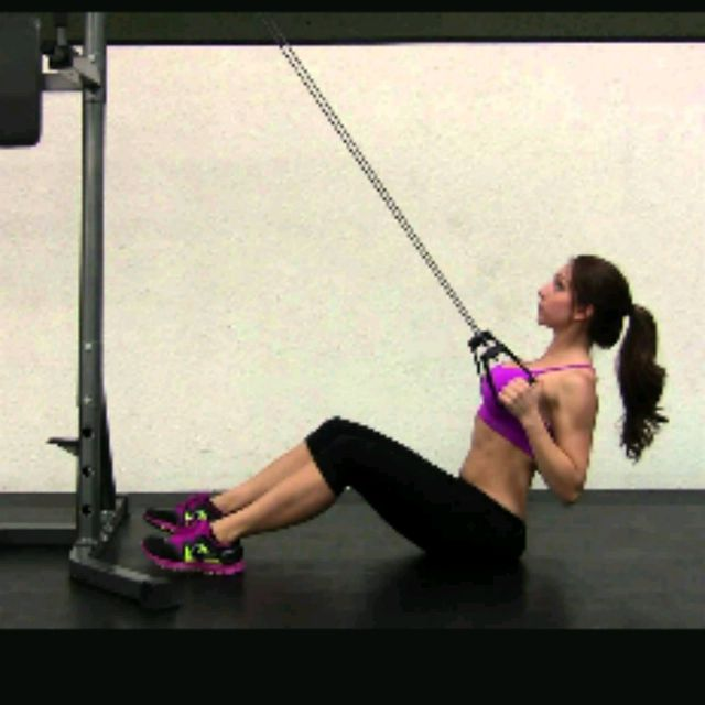 How to do: Seated HIGH CABLE ROW - Step 1