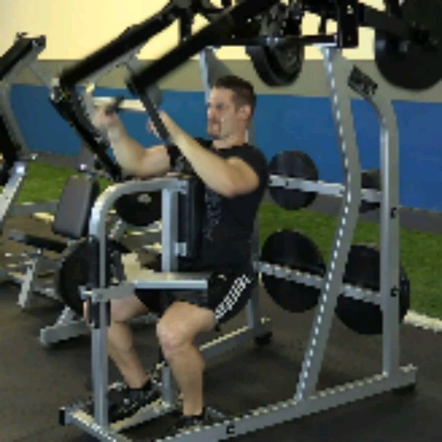 How to do: Plate Loaded High Row (10 To 12 Reps) - Step 2