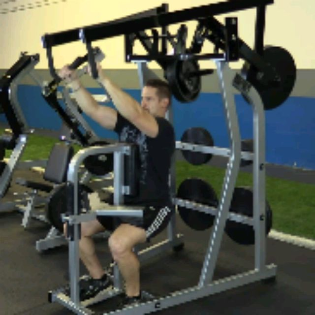 How to do: Plate Loaded High Row (10 To 12 Reps) - Step 3