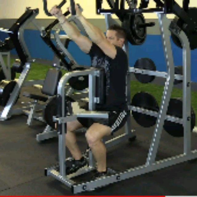 How to do: Plate Loaded High Row (10 To 12 Reps) - Step 1