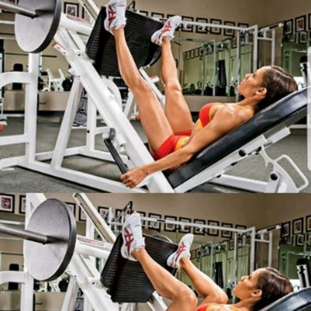How to do: Leg Press High N Wide - Step 1
