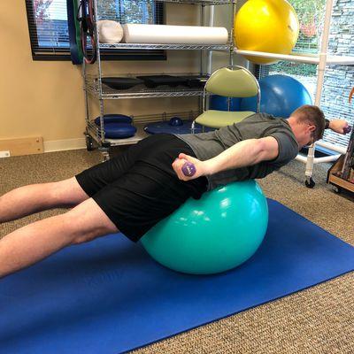 Superman Alternate Arms - Ball Exercise
