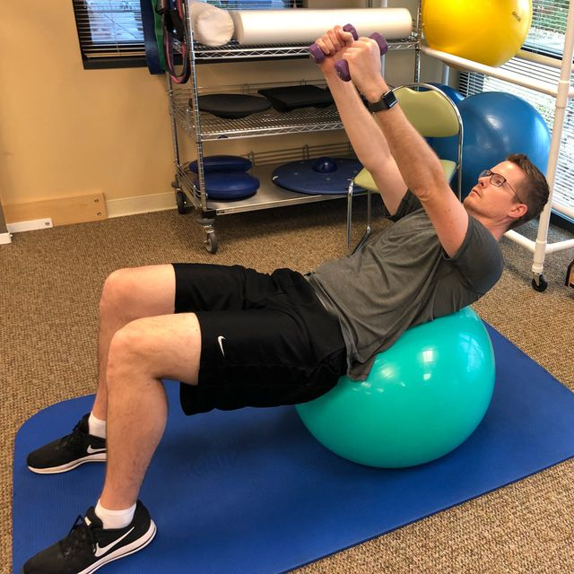 How to do: Bracing - Ball Exercise - Step 1