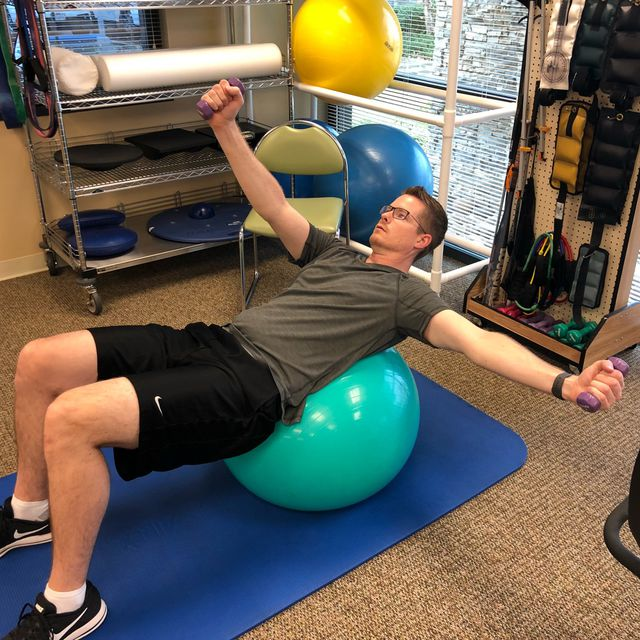 How to do: Bracing - Ball Exercise - Step 2