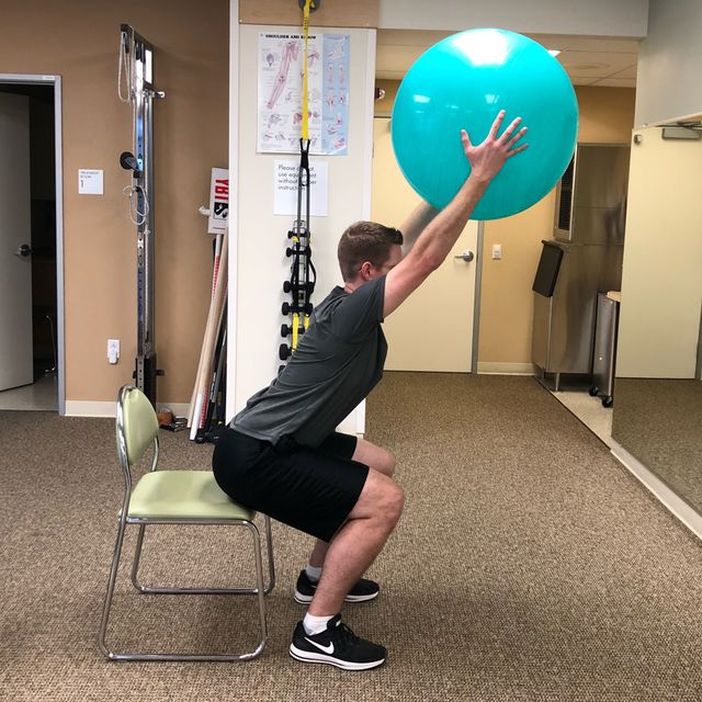 How to do: Squats With Ball - Step 2