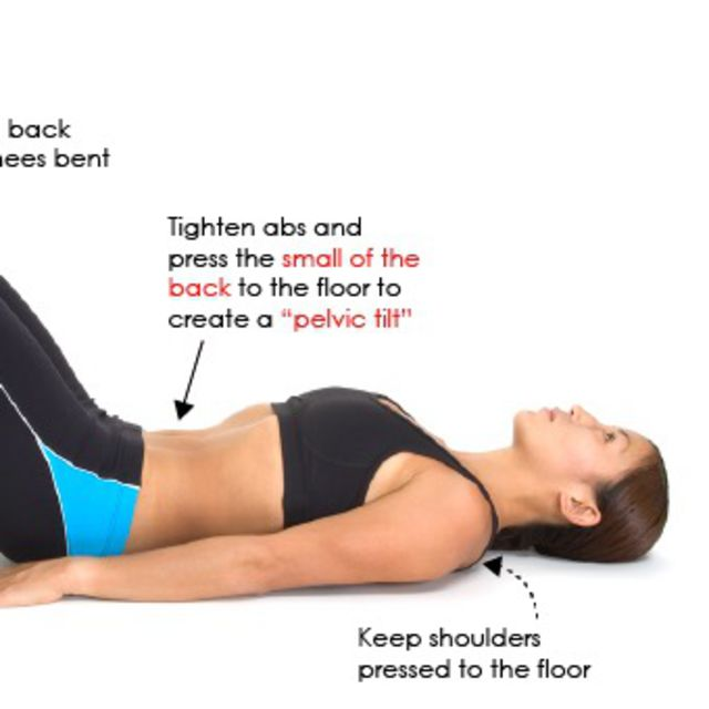 How to do: Abdominal Pelvic Tilt - Step 2
