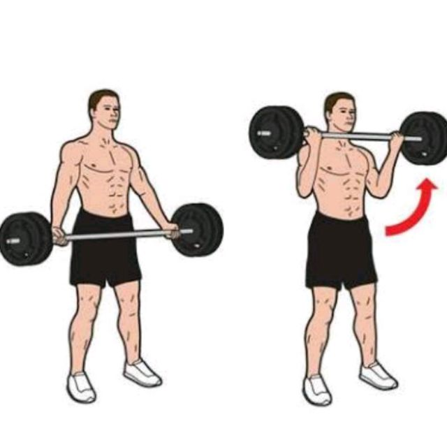 How to do: Wide Grip Barbell Bicep Curls - Step 1