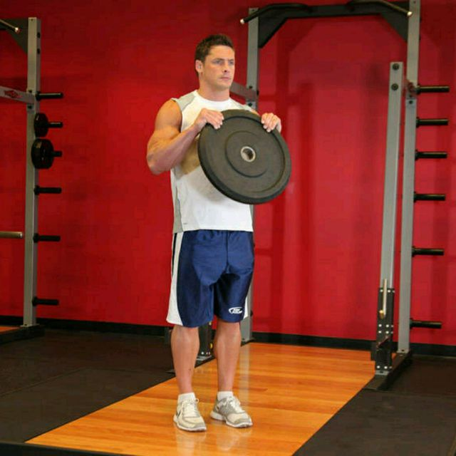 How to do: Reverse Plate Curls Images - Step 2