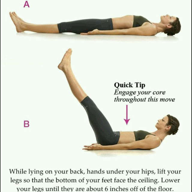 How to do: Lying Leg Lifts - Step 1